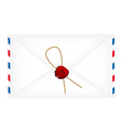 Wax sealed letter envelope vector image vector image