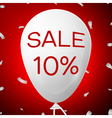 White Baloon with text Sale 10 percent Discounts vector image vector image