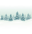 winter landscape for christmas background vector image