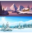 Winter Landscape Horizontal Banners vector image vector image