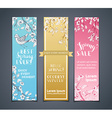 set of vertical floral banners vector image