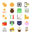 business and finance icons set b2c and b2b vector image