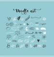 handdrawn doodles vector image