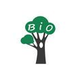 bio tree icon vector image
