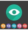 Eye watch visitor icon flat web sign symbol logo vector image