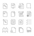 paper icon document icon editable stroke vector image