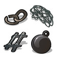 a set of metal products isolated on white vector image vector image