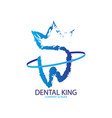 abstract dental king logo vector image vector image