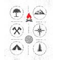 adventure mountain survival gear hike creative vector image vector image