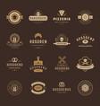 bakery shop logos badges and labels design vector image