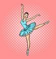 ballet dancer pop art style vector image vector image