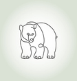 Bear grizzly in minimal line style vector image vector image