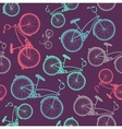 bicycle texture hipster background vector image vector image
