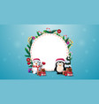 blank round christmas template for your text vector image vector image