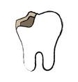 broken tooth icon vector image vector image