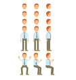 businessman with guy standing and many motion vector image vector image