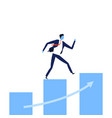 businessmen walking up stairs to success vector image