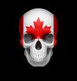 canadian flag skull vector image vector image