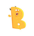 cartoon character monster letter b vector image vector image