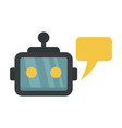 chatbot service icon flat style vector image vector image