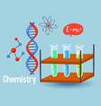 chemistry science design vector image
