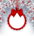 Christmas Banner with Silver Fir Twigs and Card vector image