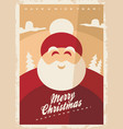 christmas greeting card design template with smili vector image vector image