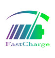 colorful battery fast charge logo design vector image