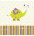 Cute baby background with elephant vector image vector image