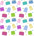 Cute shopping bag seamless pattern Colorful bags vector image vector image