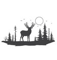 deer in forest vector image vector image