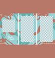 design vertical backgrounds for social media vector image vector image