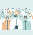 doctors wearing full protective gear vector image