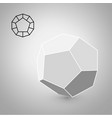 dodecahedron is a geometric figure hipster vector image vector image