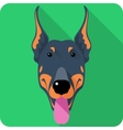 dog Doberman Pinscher icon flat design vector image vector image