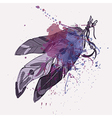 ethnic decorative feathers with watercolor vector image vector image