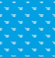 eyesight pattern seamless blue vector image