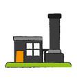 factory cartoon draw vector image vector image