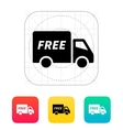 Free delivery icon vector image vector image