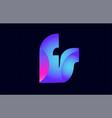 fs f s spink blue gradient alphabet letter vector image vector image