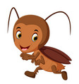 funny cockroach running vector image vector image