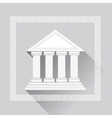 Greek Pillars Icon vector image vector image