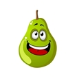 Green cartoon pear fruit vector image vector image