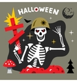 Halloween Skeleton Cartoon vector image vector image