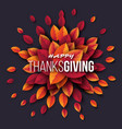 happy thanksgiving holiday design with bright vector image