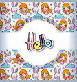 hello pattern background vector image