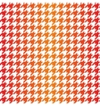 Houndstooth seamless red orange yellow pattern vector image