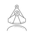 industrial ladle line icon vector image vector image