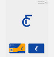 initial cf or fc creative logo template and vector image