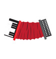 isolated accordion musical instrument vector image vector image